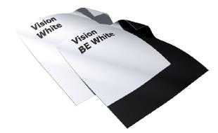 Vision White projectiedoek van Adeo projectieschermen